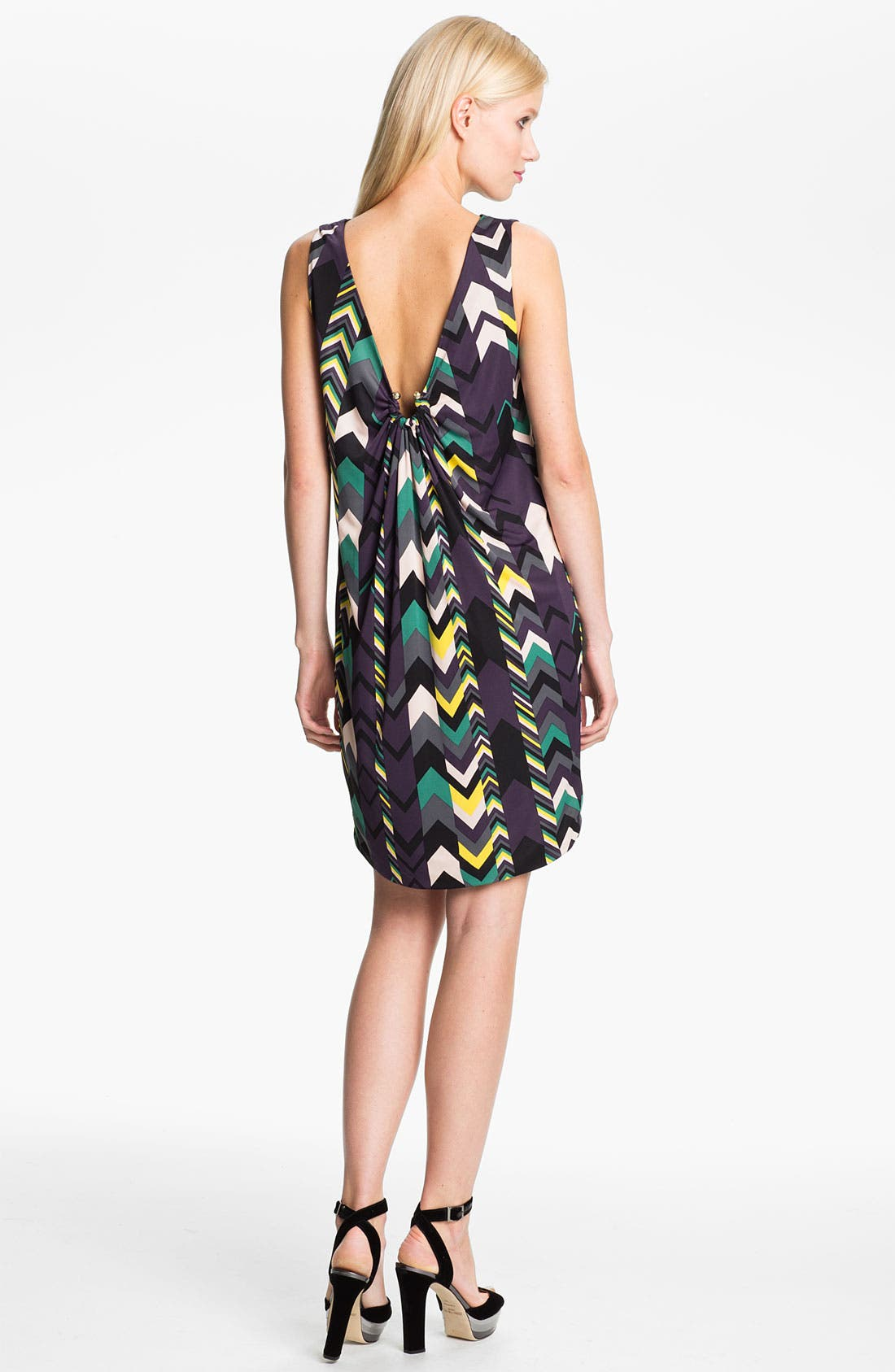 Alternate Image 2  - M Missoni Zigzag Print Reversible Dress