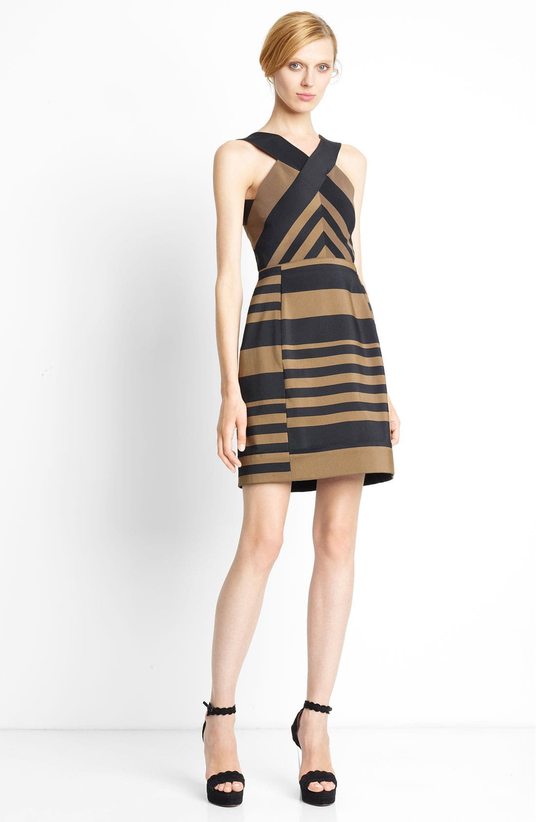 Alternate Image 1 Selected - Lanvin Striped Halter Dress