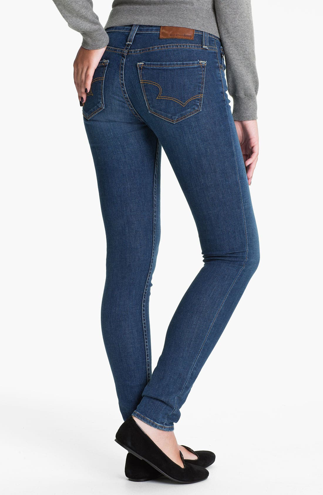 Alternate Image 1 Selected - Big Star 'Alex' Skinny Jeans (Olympic Light) (Juniors)