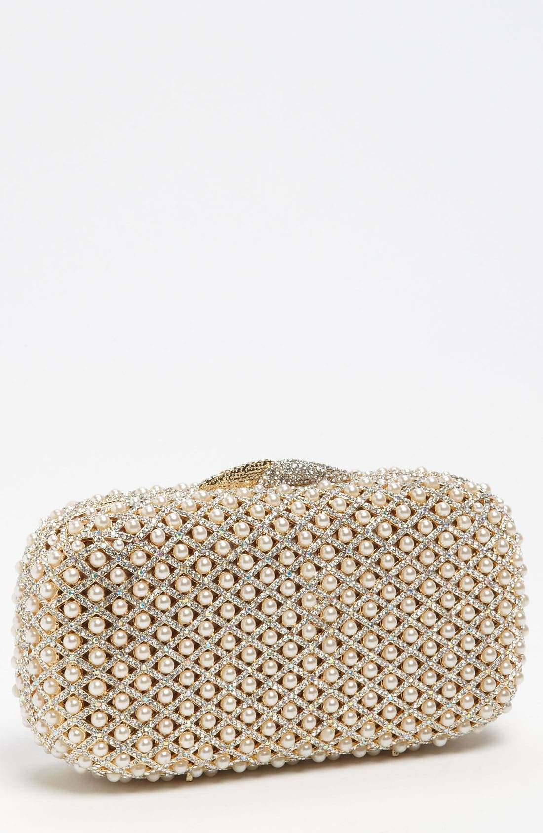 Main Image - Natasha Couture Pearl Caged Clutch