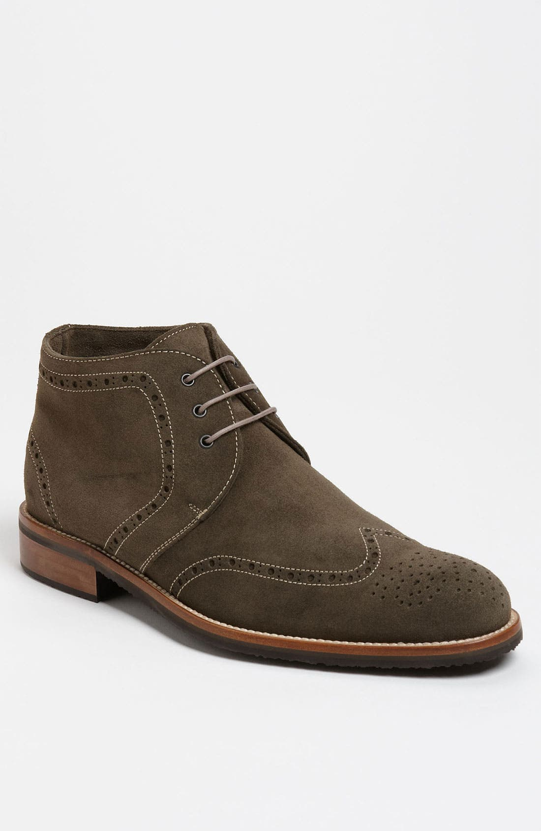 Main Image - Thomas Dean Suede Wingtip Chukka Boot (Online Only)