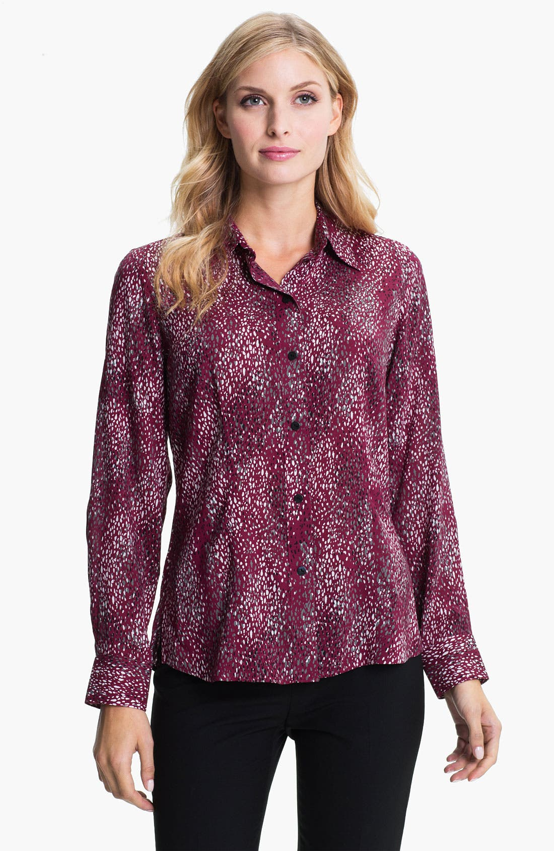 Alternate Image 1 Selected - Foxcroft 'Scattered Dots' Shirt