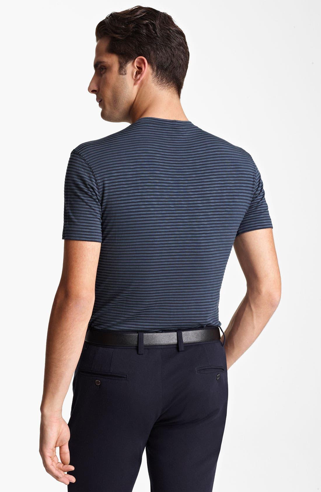 Alternate Image 2  - Armani Collezioni Jersey Stripe Crewneck T-Shirt