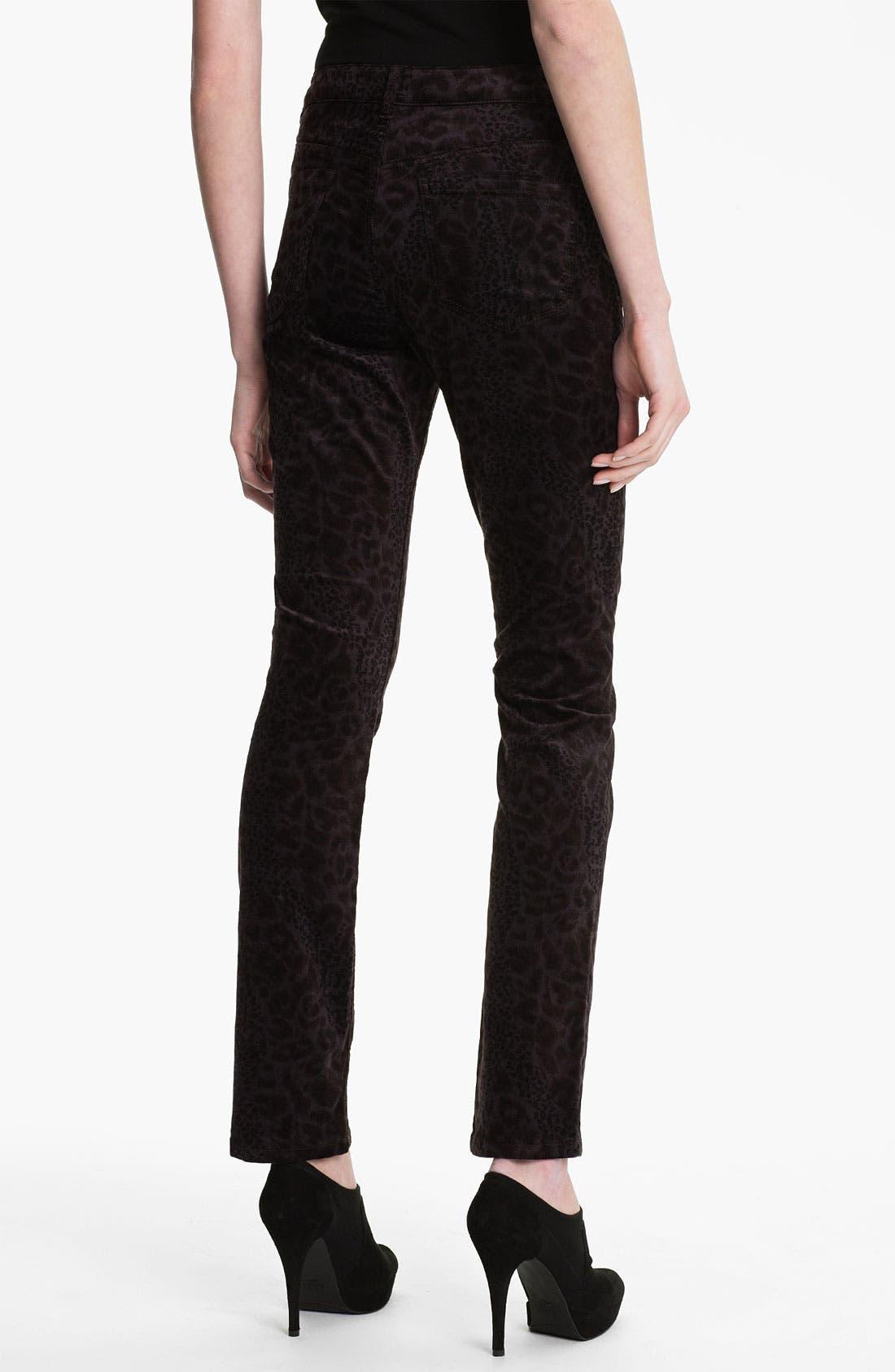 Alternate Image 2  - Liverpool Jeans Company 'Sadie' Print Straight Leg Velveteen Jeans