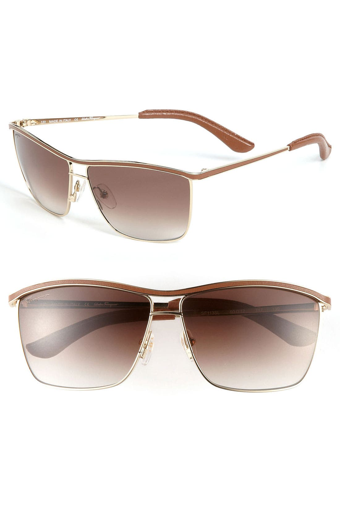 Alternate Image 1 Selected - Salvatore Ferragamo Navigator Sunglasses