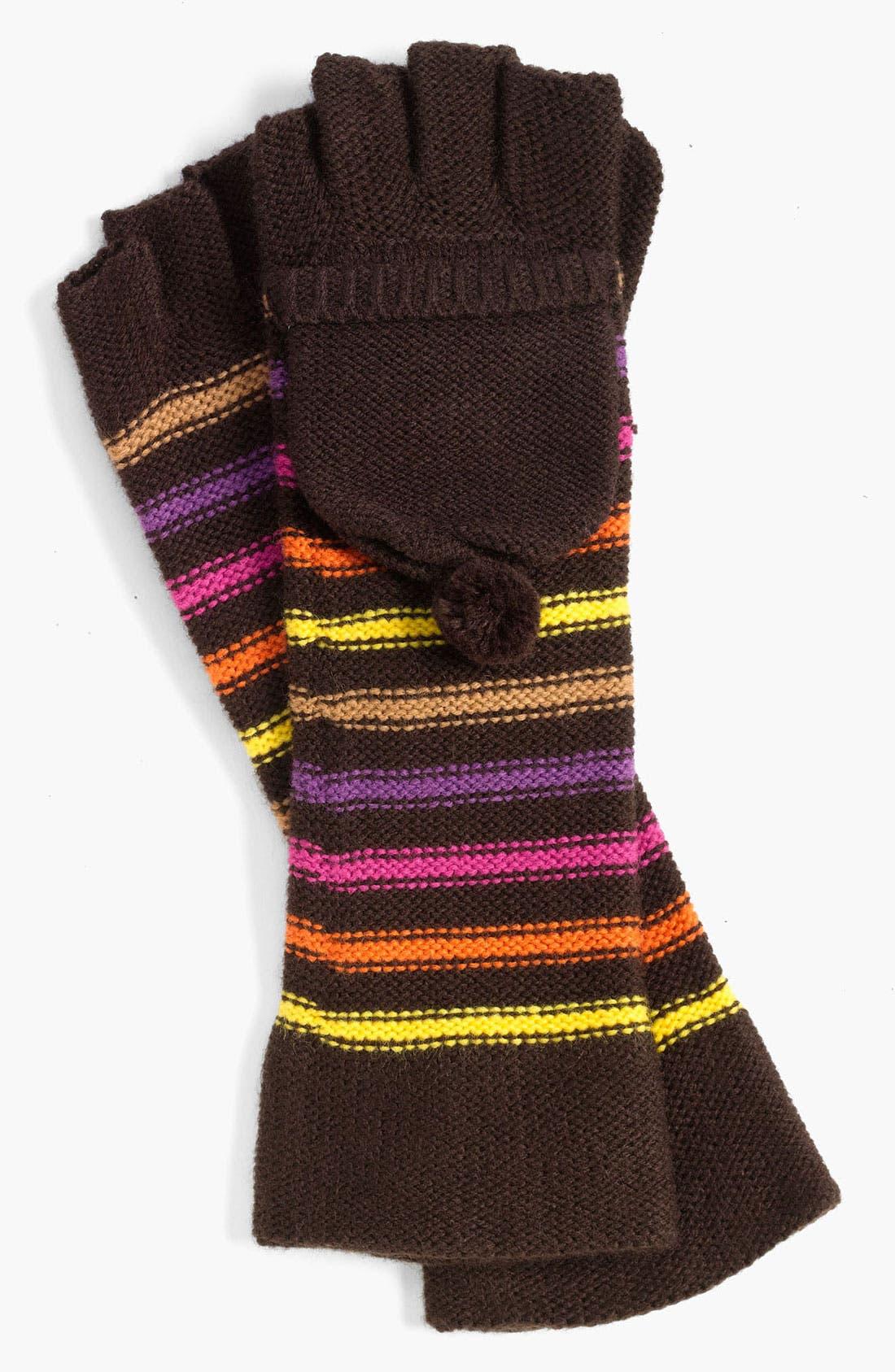 Main Image - Betsey Johnson 'Pompom Party' Fingerless Gloves