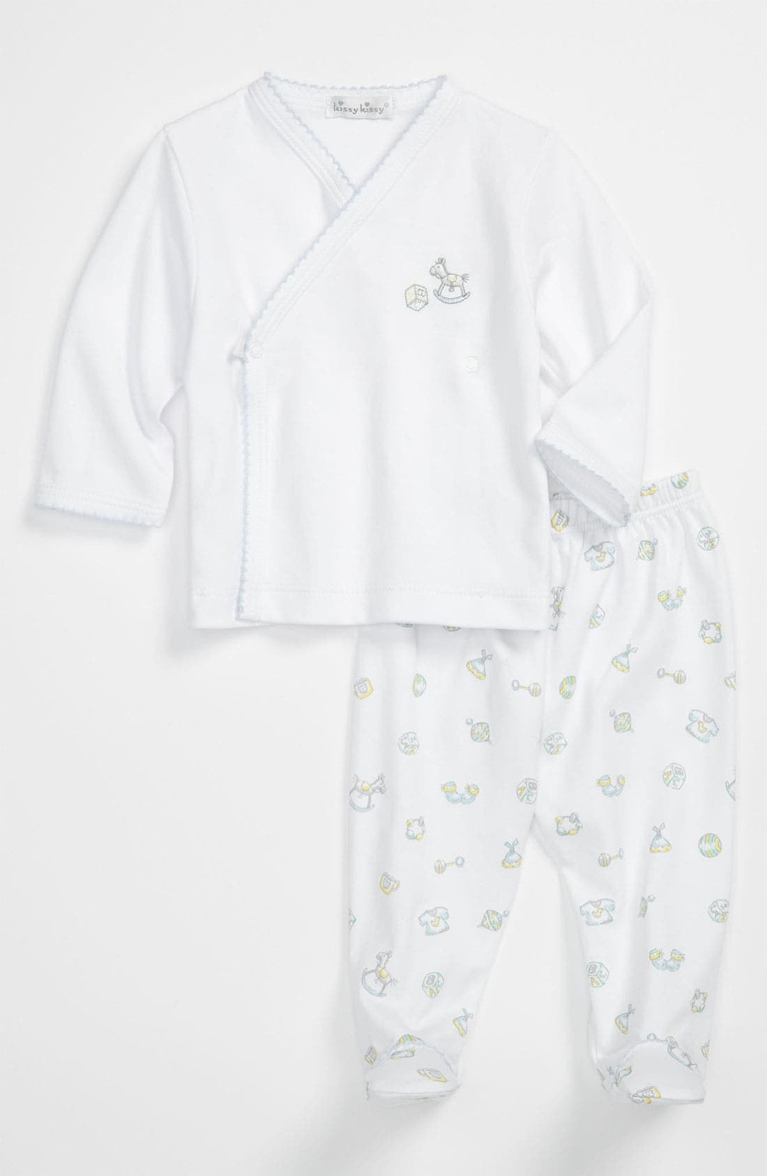 Alternate Image 1 Selected - Kissy Kissy Top & Footed Pants (Infant)