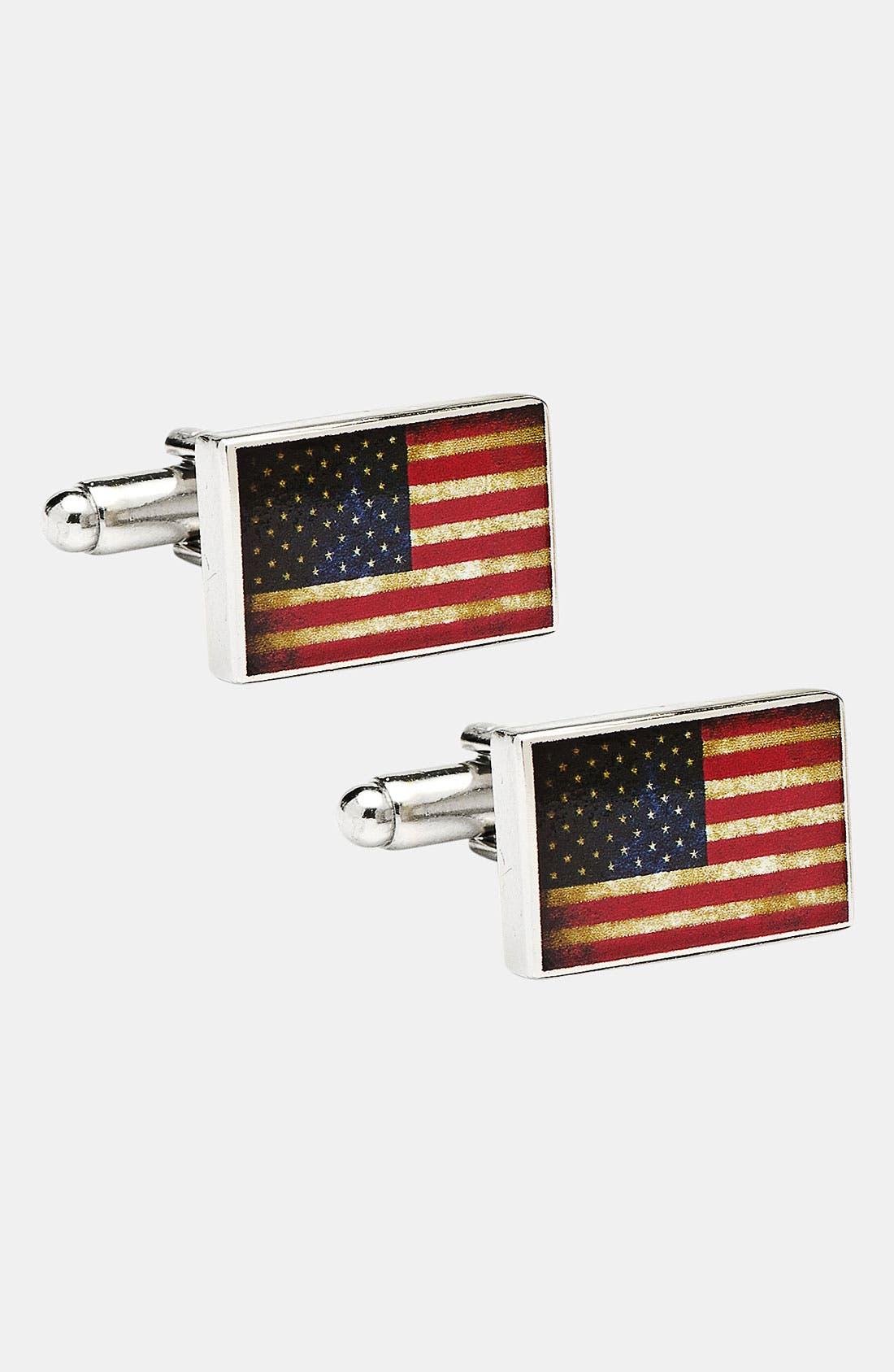 Main Image - Cufflinks, Inc. 'USA Flag' Cuff Links