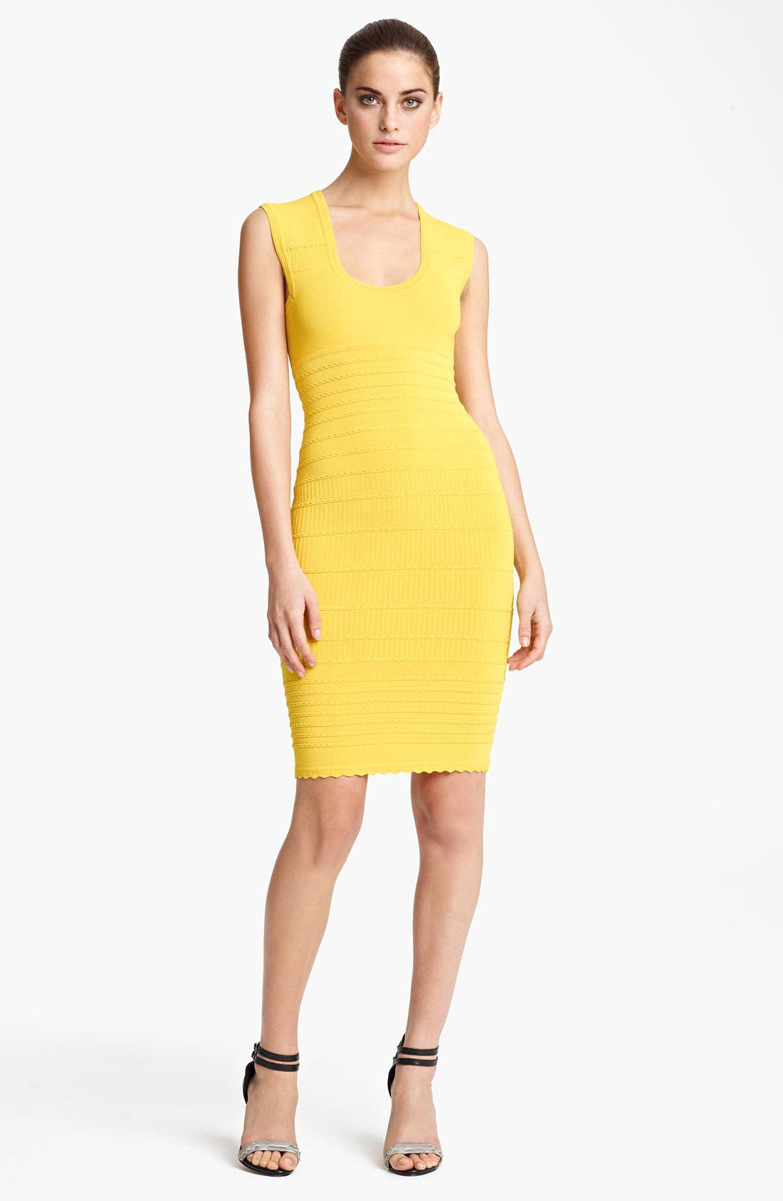 Alternate Image 1 Selected - Yigal Azrouël Scoop Neck Knit Dress