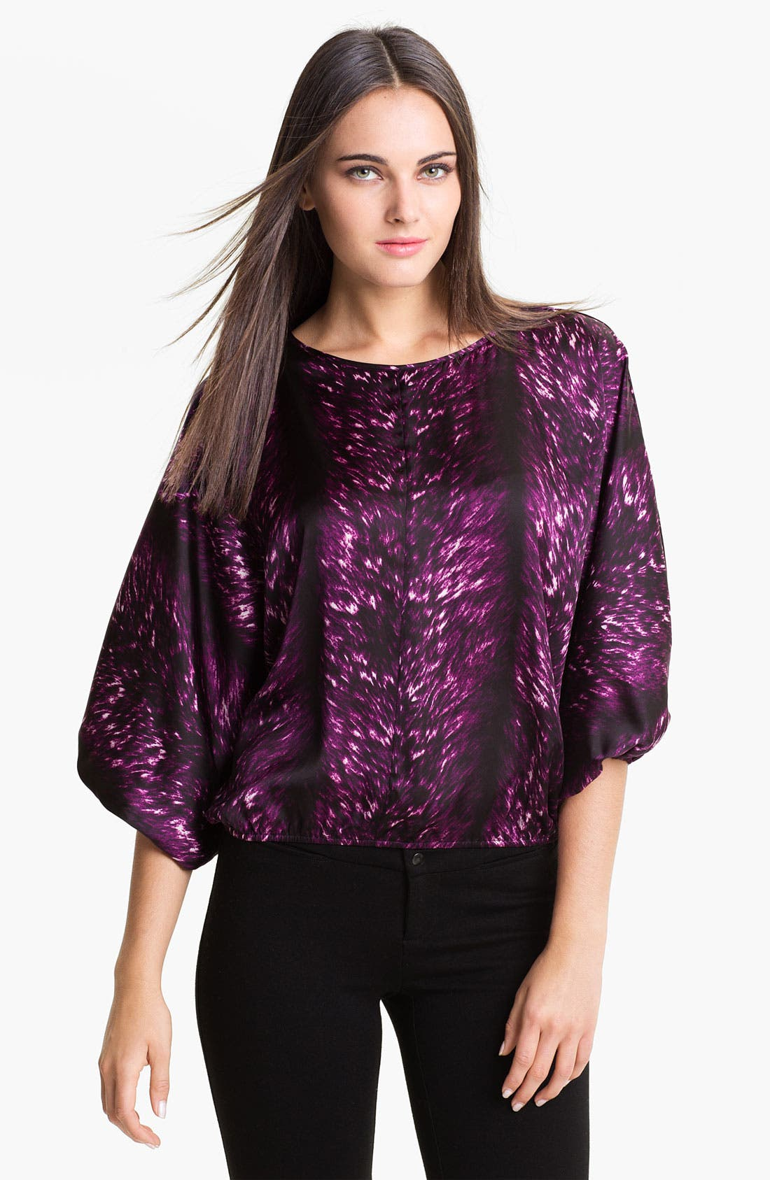 Alternate Image 1 Selected - Vince Camuto Print Peasant Blouse