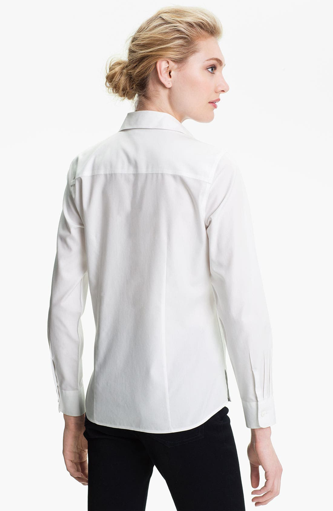 Alternate Image 2  - Foxcroft Non-Iron Fitted Shirt (Regular & Petite)