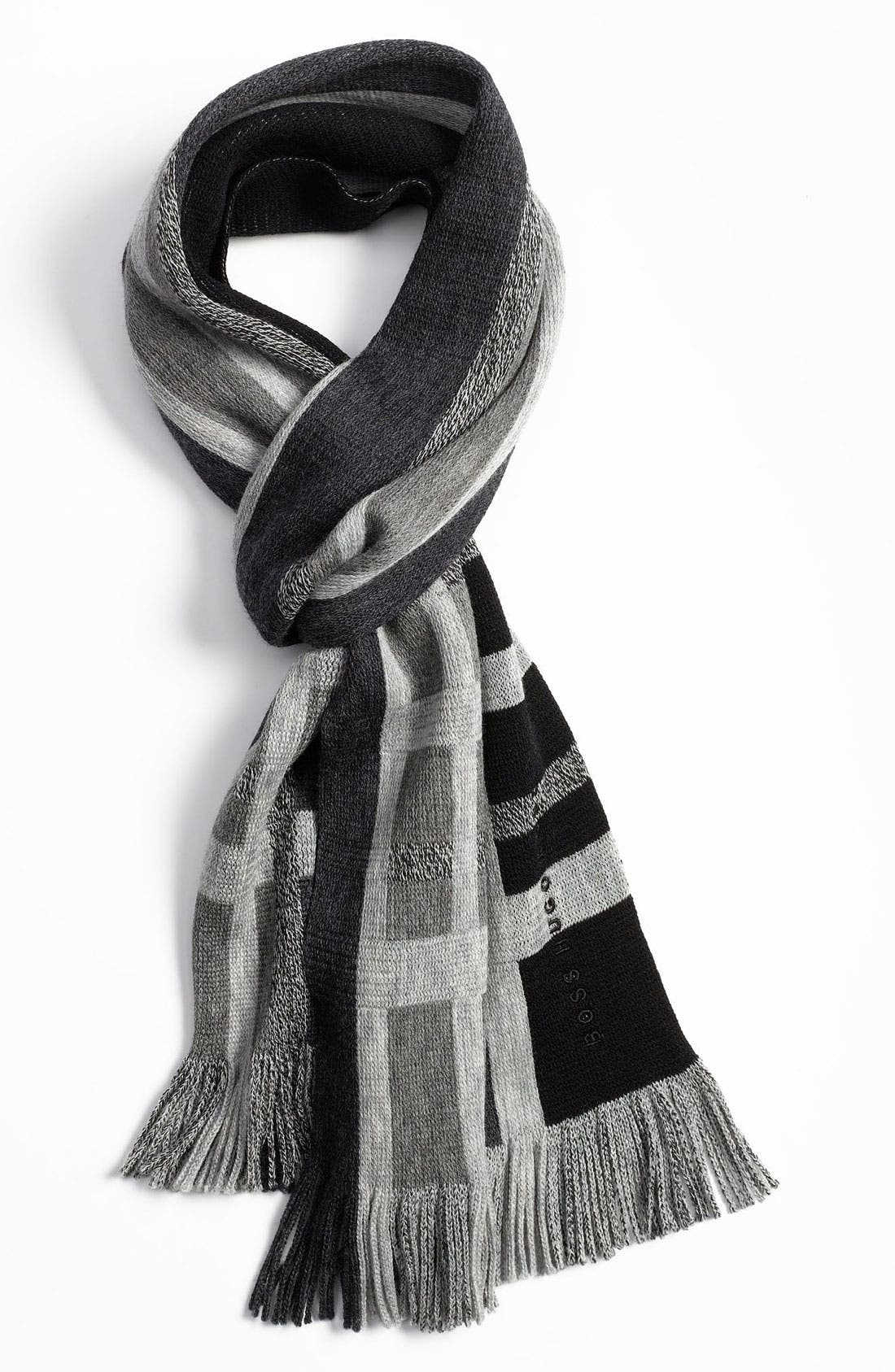 Alternate Image 1 Selected - BOSS Black 'Famit' Wool Scarf