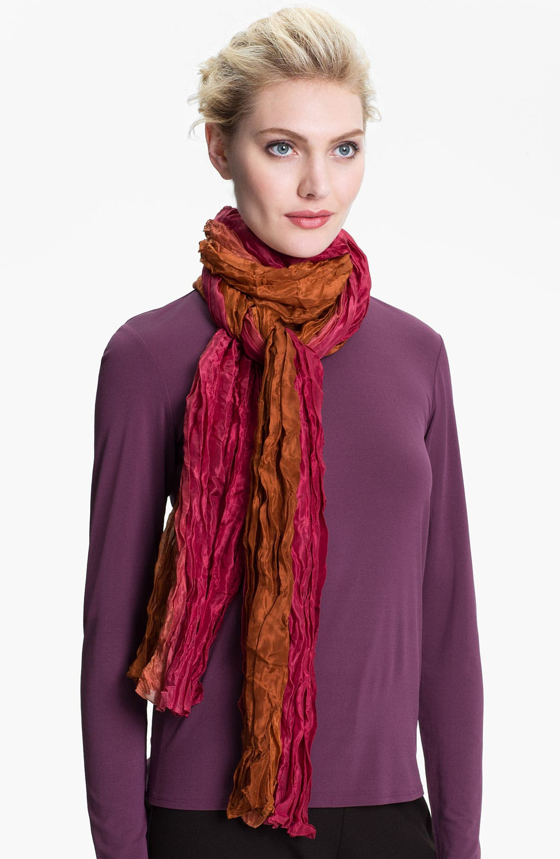 Alternate Image 1 Selected - Eileen Fisher Ombré Silk Scarf