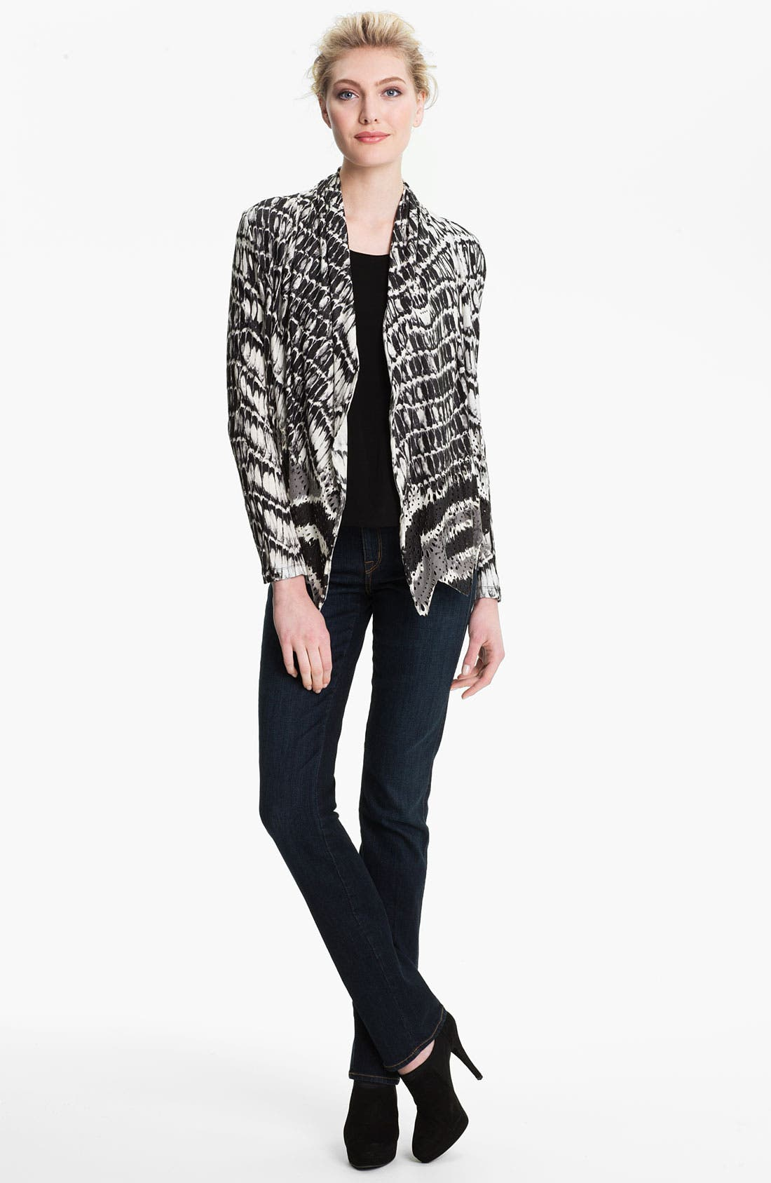 Alternate Image 4  - Alberto Makali Perforated Print Cardigan