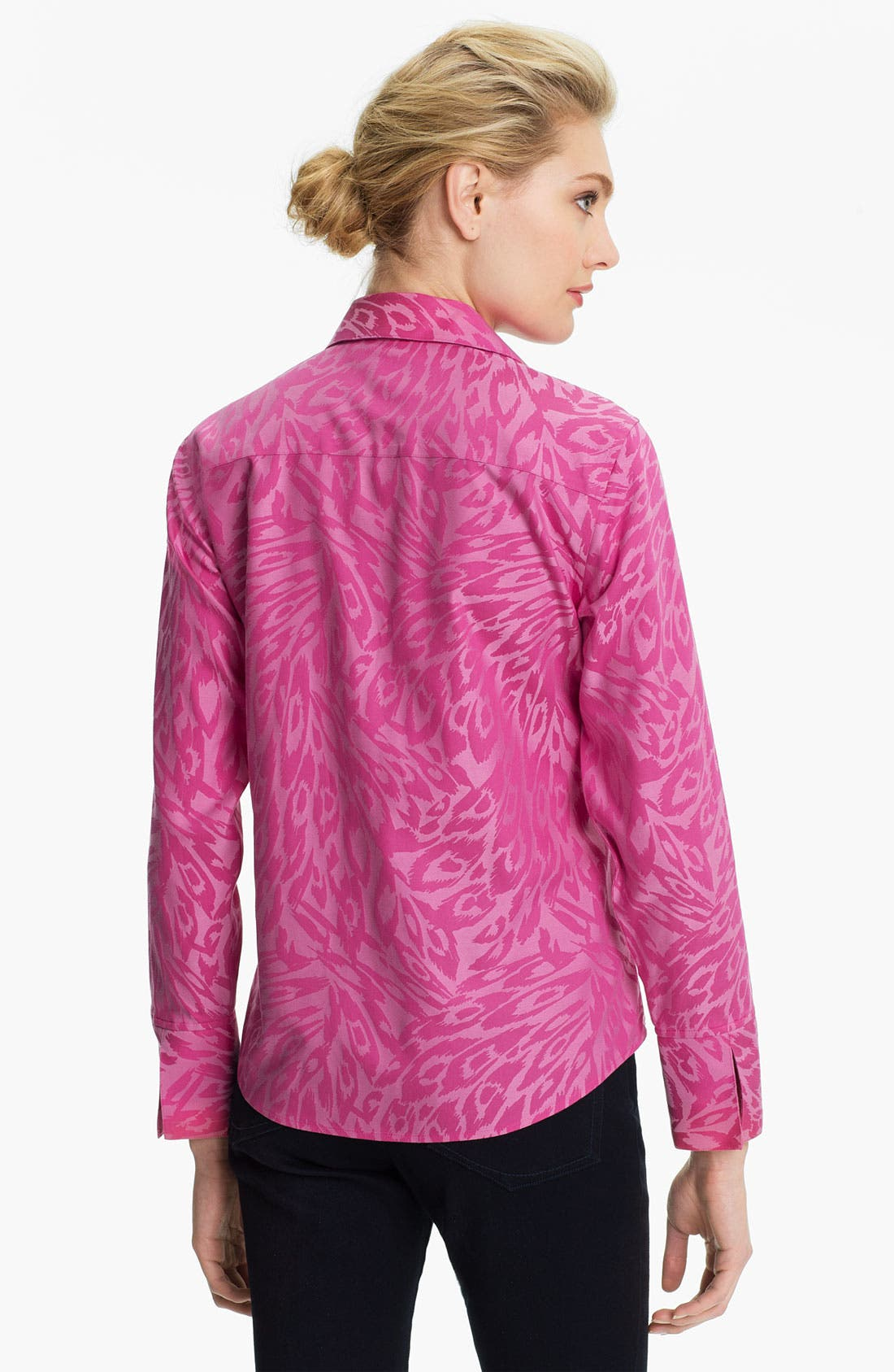 Alternate Image 2  - Foxcroft Animal Jacquard Shirt