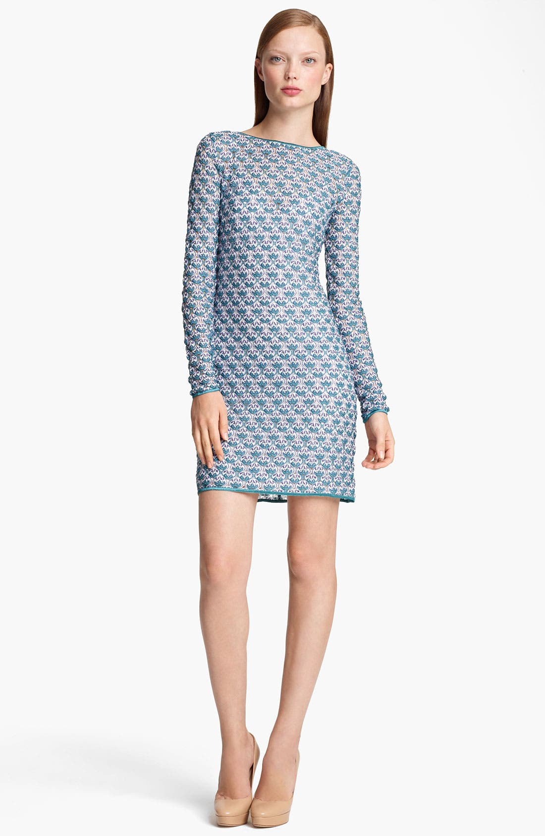 Main Image - Missoni Long Sleeve Flame Stitch Dress