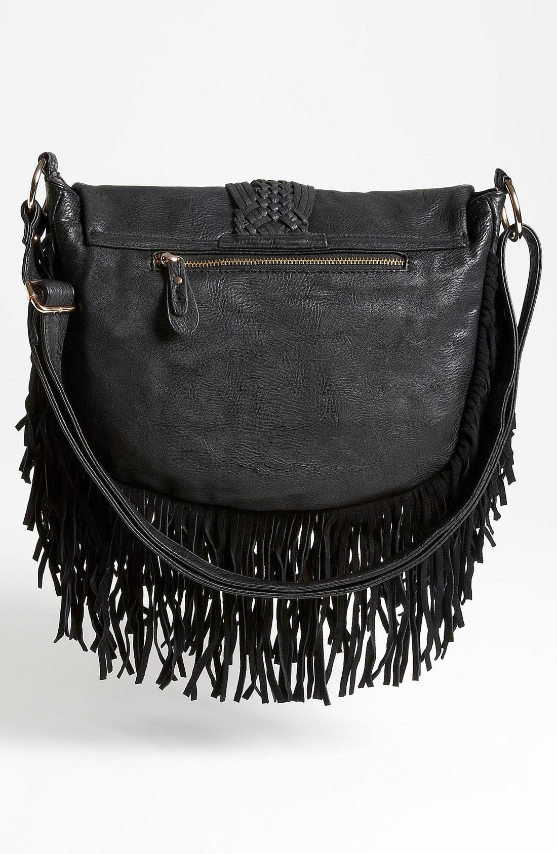 Alternate Image 4  - Street Level Woven Fringe Crossbody Bag