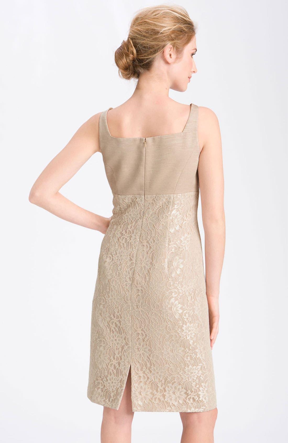 Alternate Image 3  - Tahari Lace Sheath Dress & Jacket