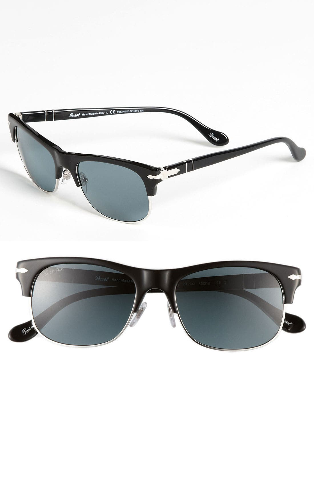Alternate Image 1 Selected - Persol 53mm 'Cello Clubmaster' Sunglasses