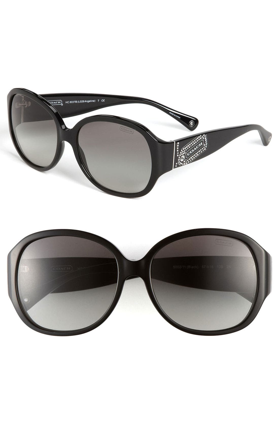Main Image - COACH 'Angeline' 57mm Gradient Oversized Sunglasses