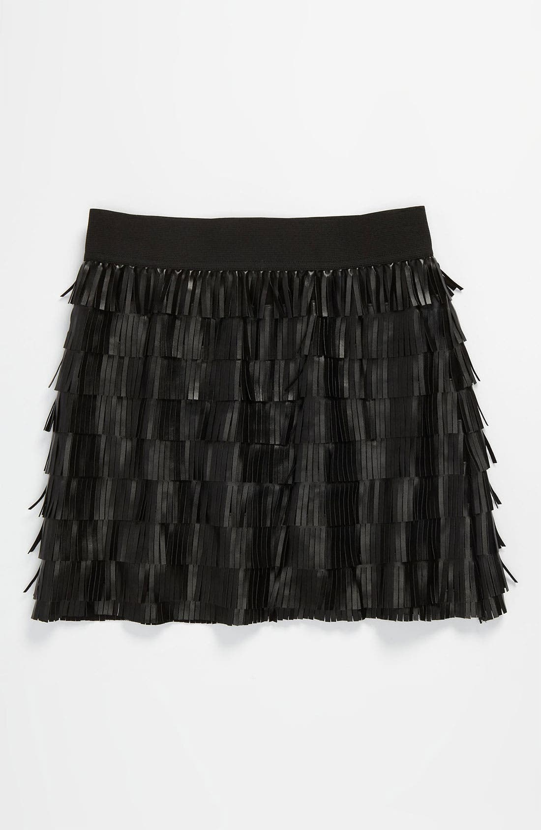 Alternate Image 1 Selected - Little Mass Faux Leather Skirt (Big Girls)