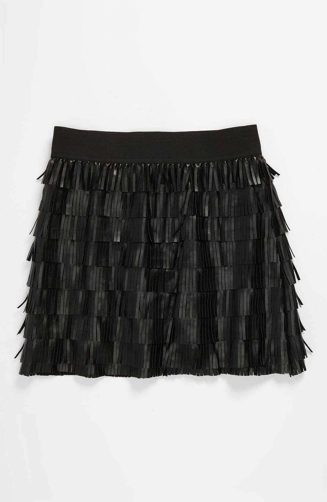 Main Image - Little Mass Faux Leather Skirt (Big Girls)