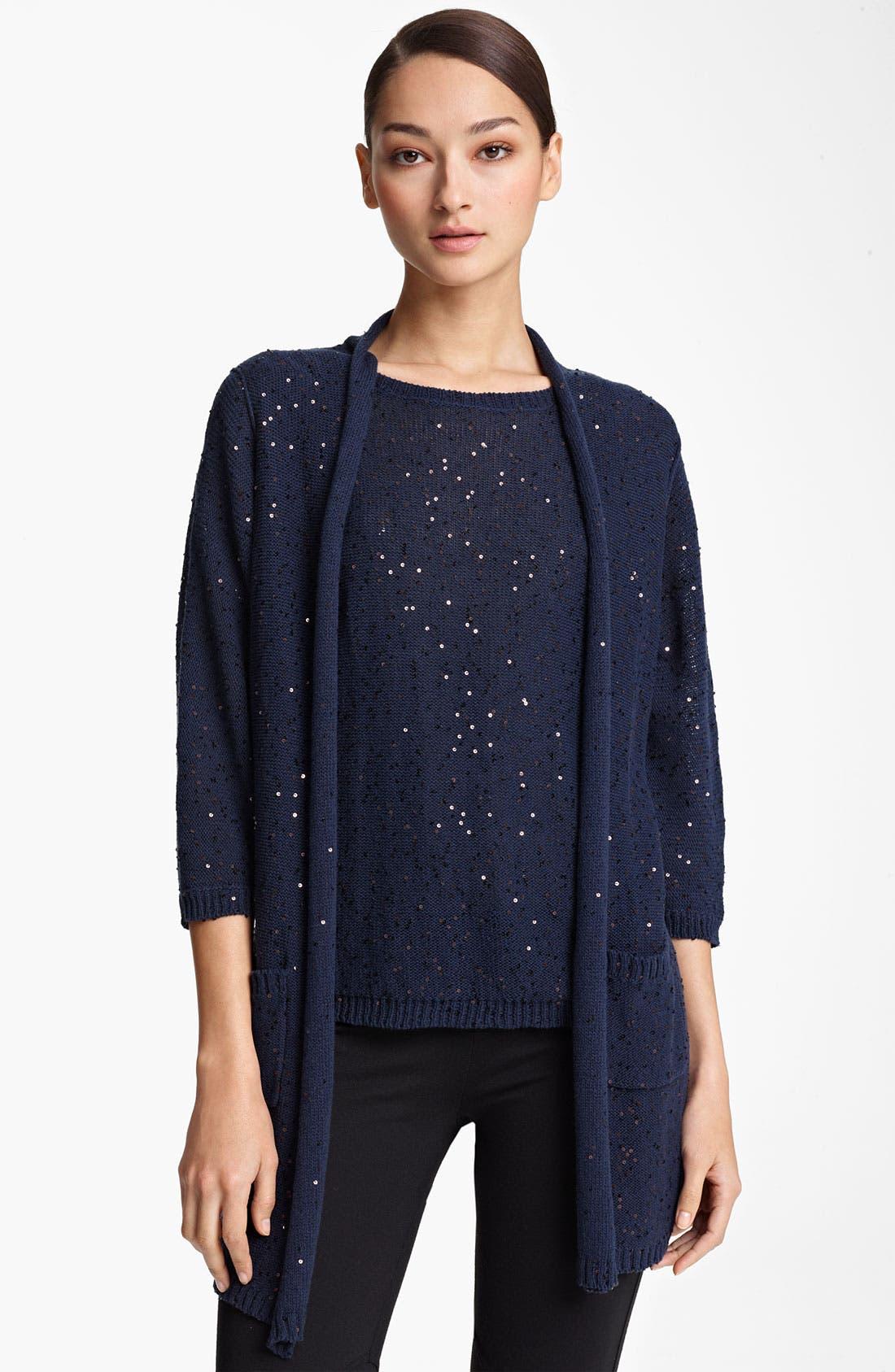 Alternate Image 1 Selected - Fabiana Filippi Paillette Crochet Vest