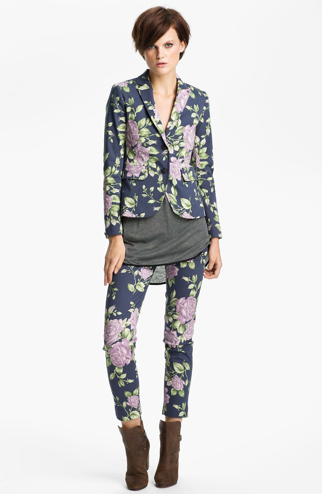 Alternate Image 1 Selected - rag & bone 'Bailey' Floral Print Jacket