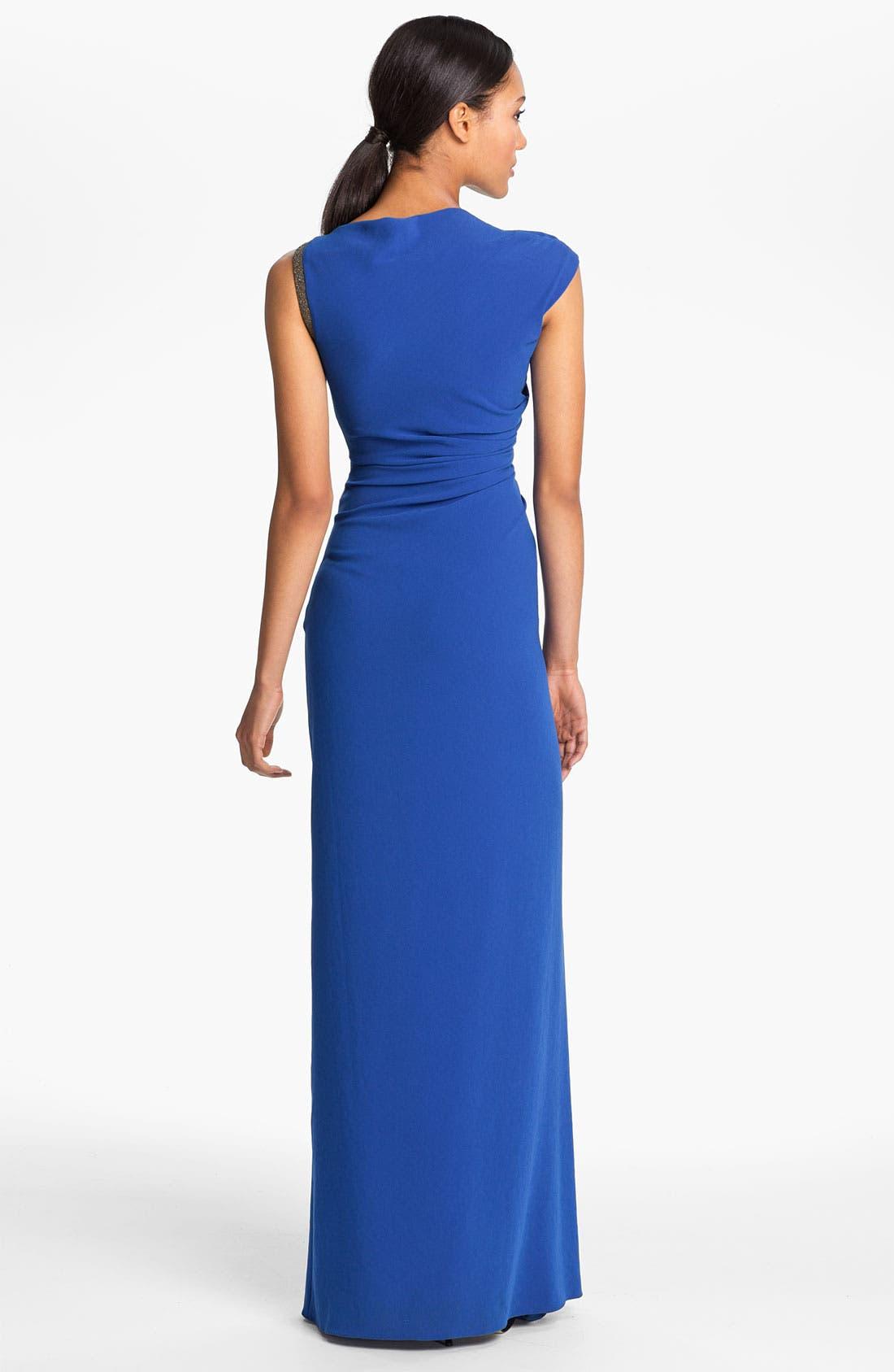 Alternate Image 2  - Halston Heritage Ruched Waist Gown