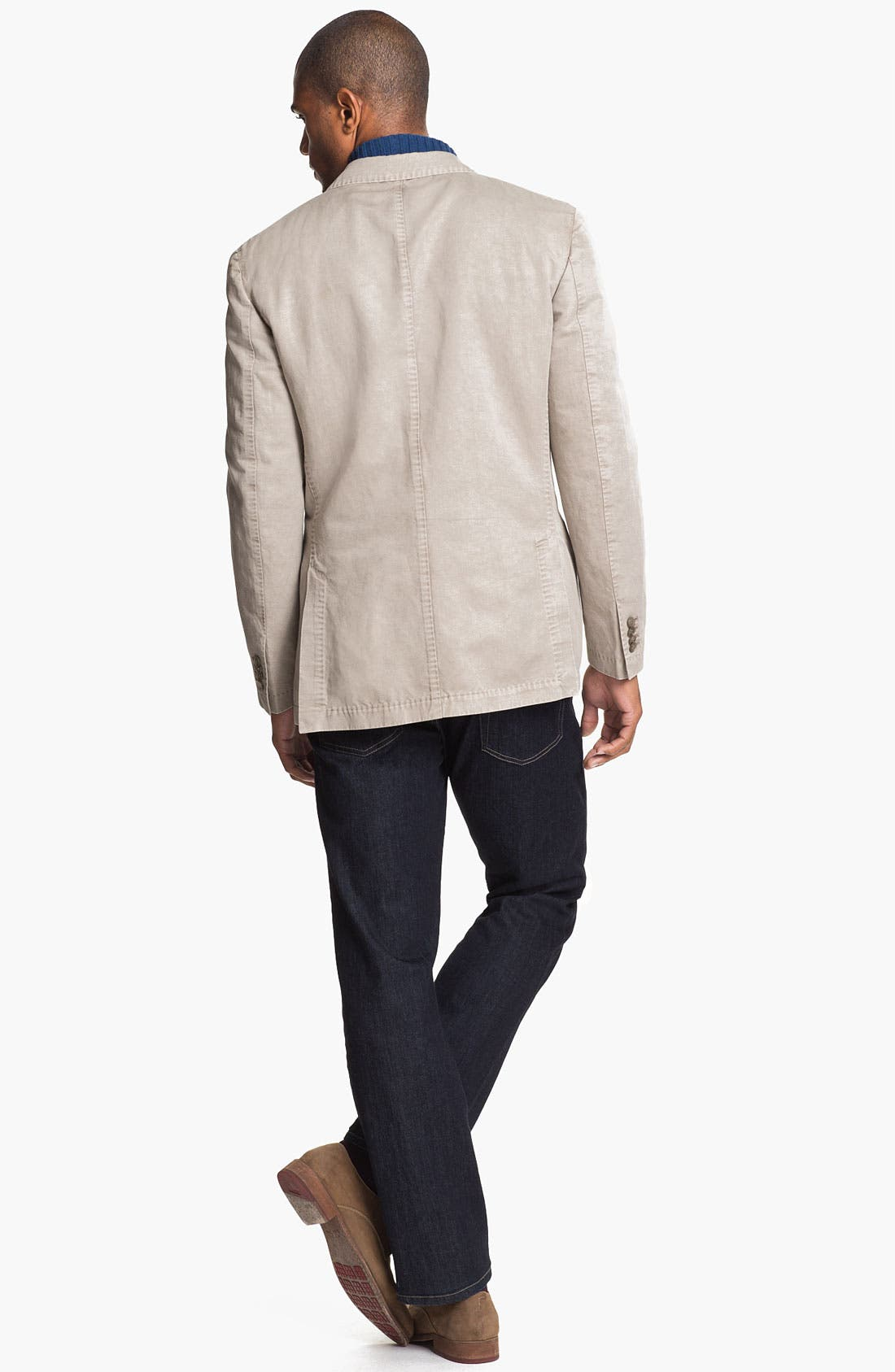 Alternate Image 5  - Canali Washed Cotton & Linen Sportcoat