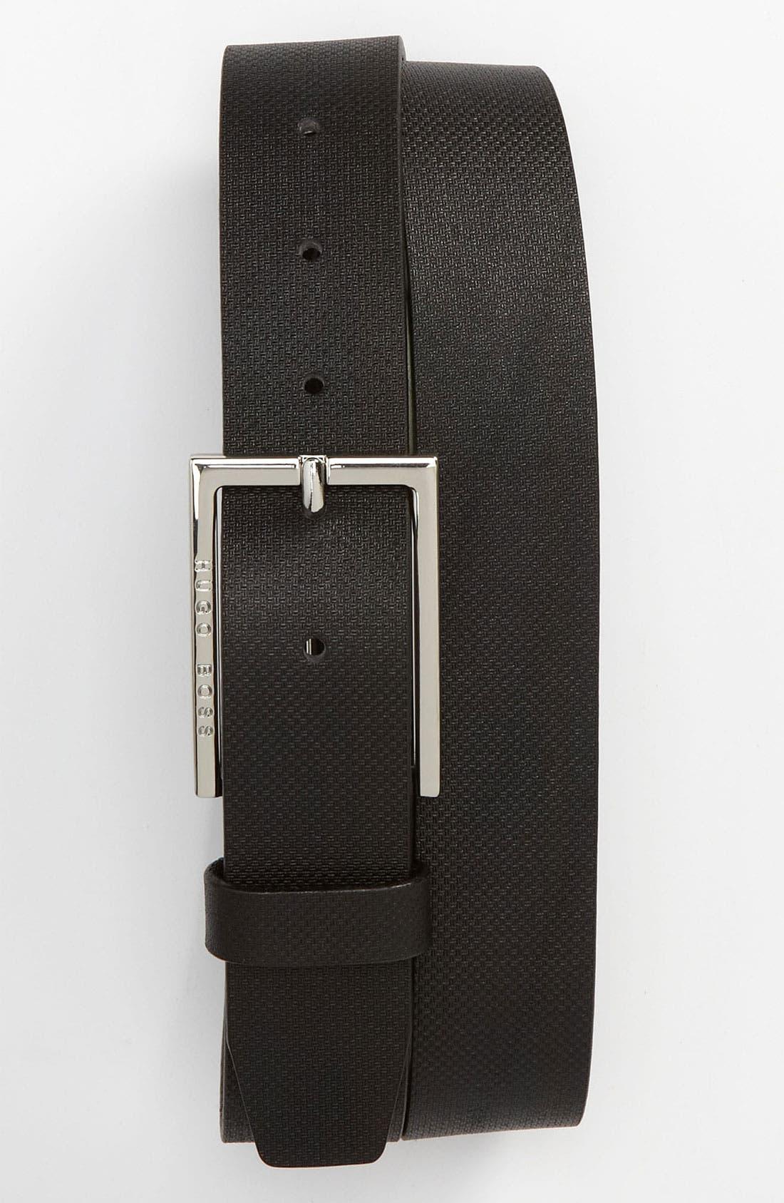 Alternate Image 1 Selected - BOSS Black 'Peox' Leather Belt