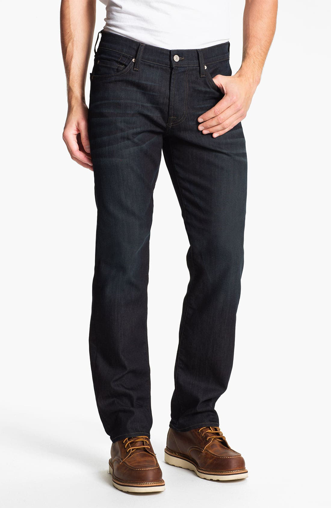 Alternate Image 2  - 7 For All Mankind® 'Slimmy' Slim Fit Jeans (Eddington)