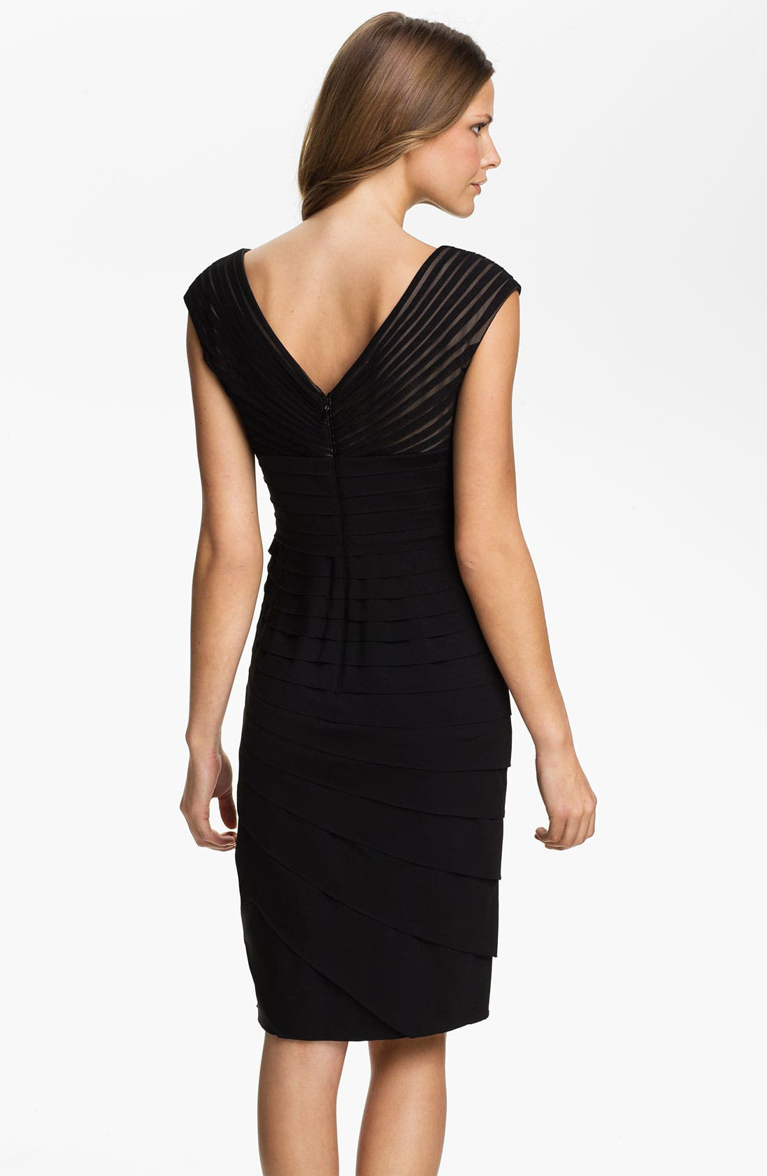 Alternate Image 2  - Adrianna Papell Side Seam Pleated Sheath Dress (Petite)