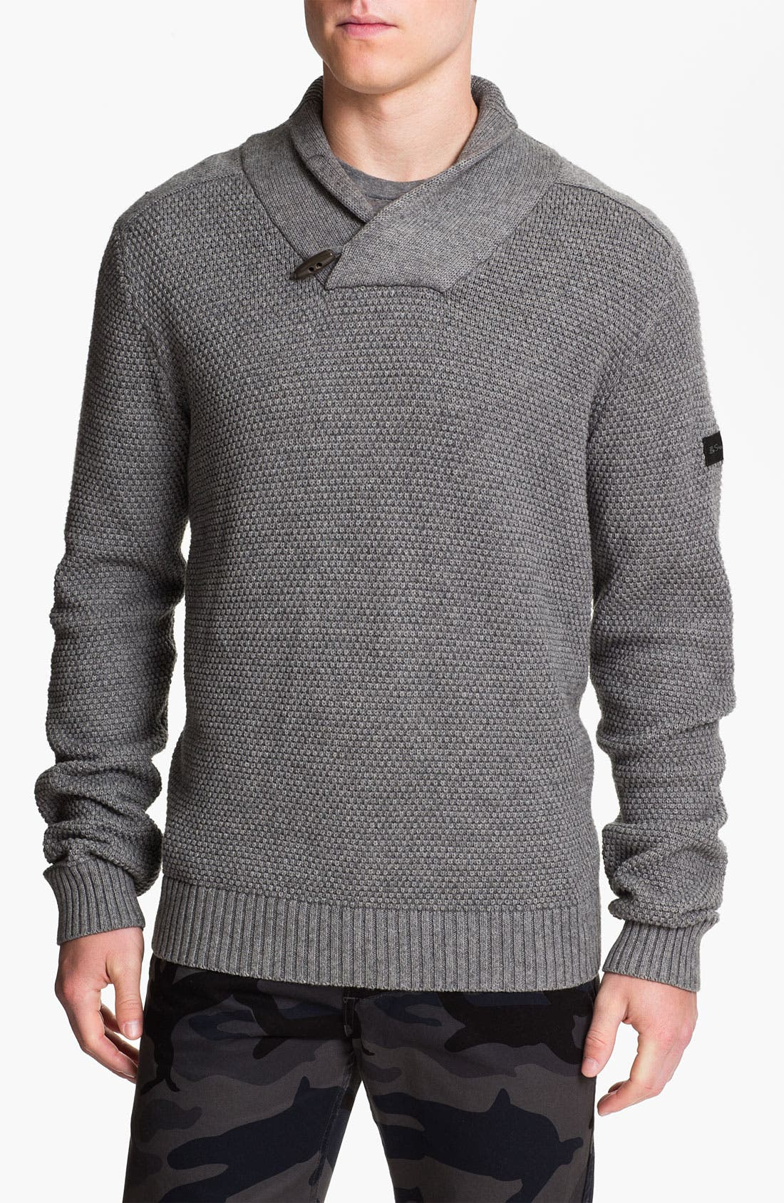 Alternate Image 1 Selected - Ben Sherman Shawl Collar Sweater