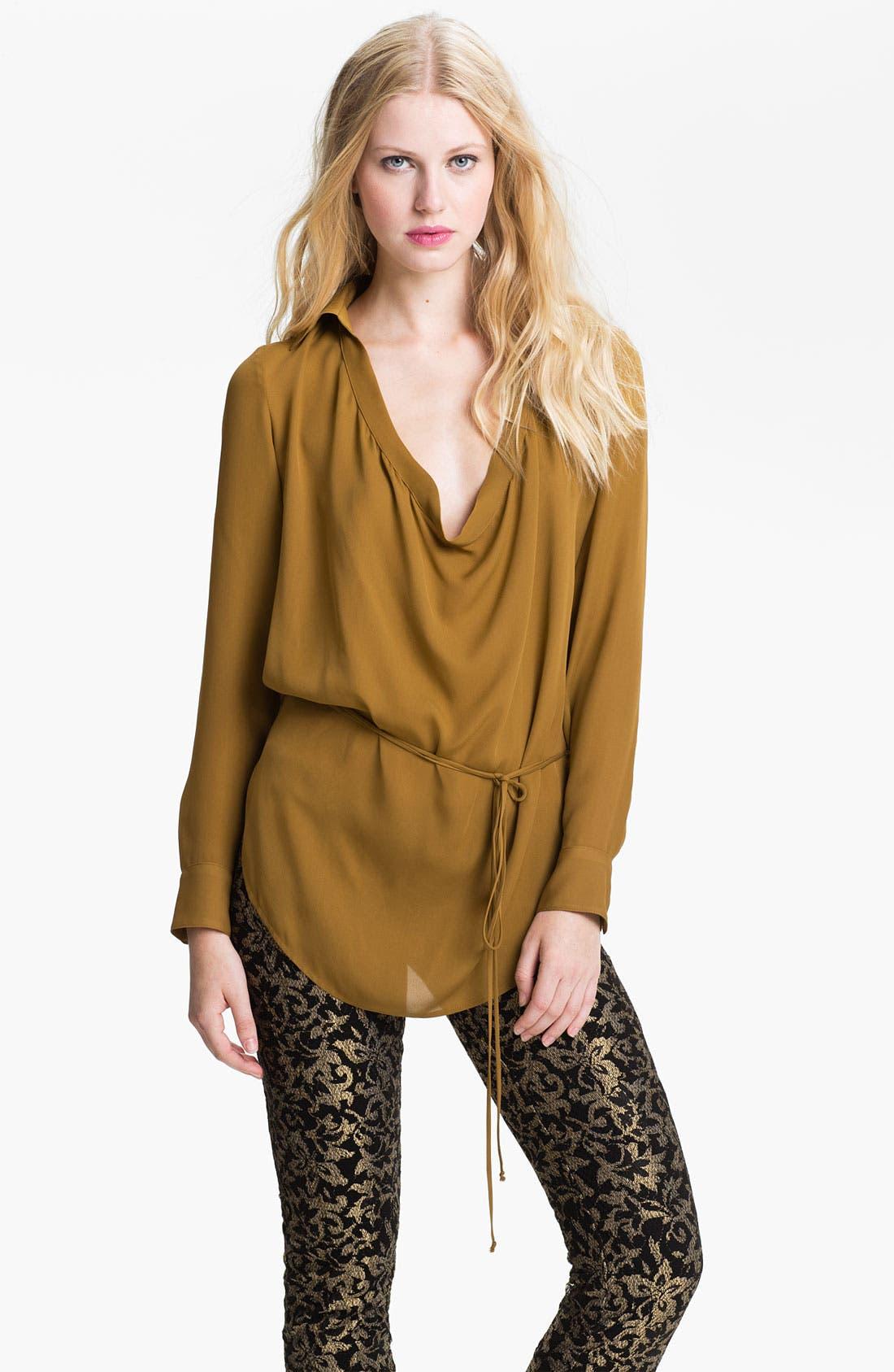 Alternate Image 1 Selected - Haute Hippie Draped Tunic Shirt