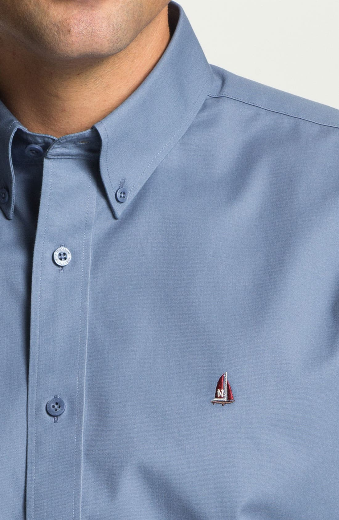 Alternate Image 3  - Nordstrom Smartcare™ Traditional Fit Twill Boat Shirt