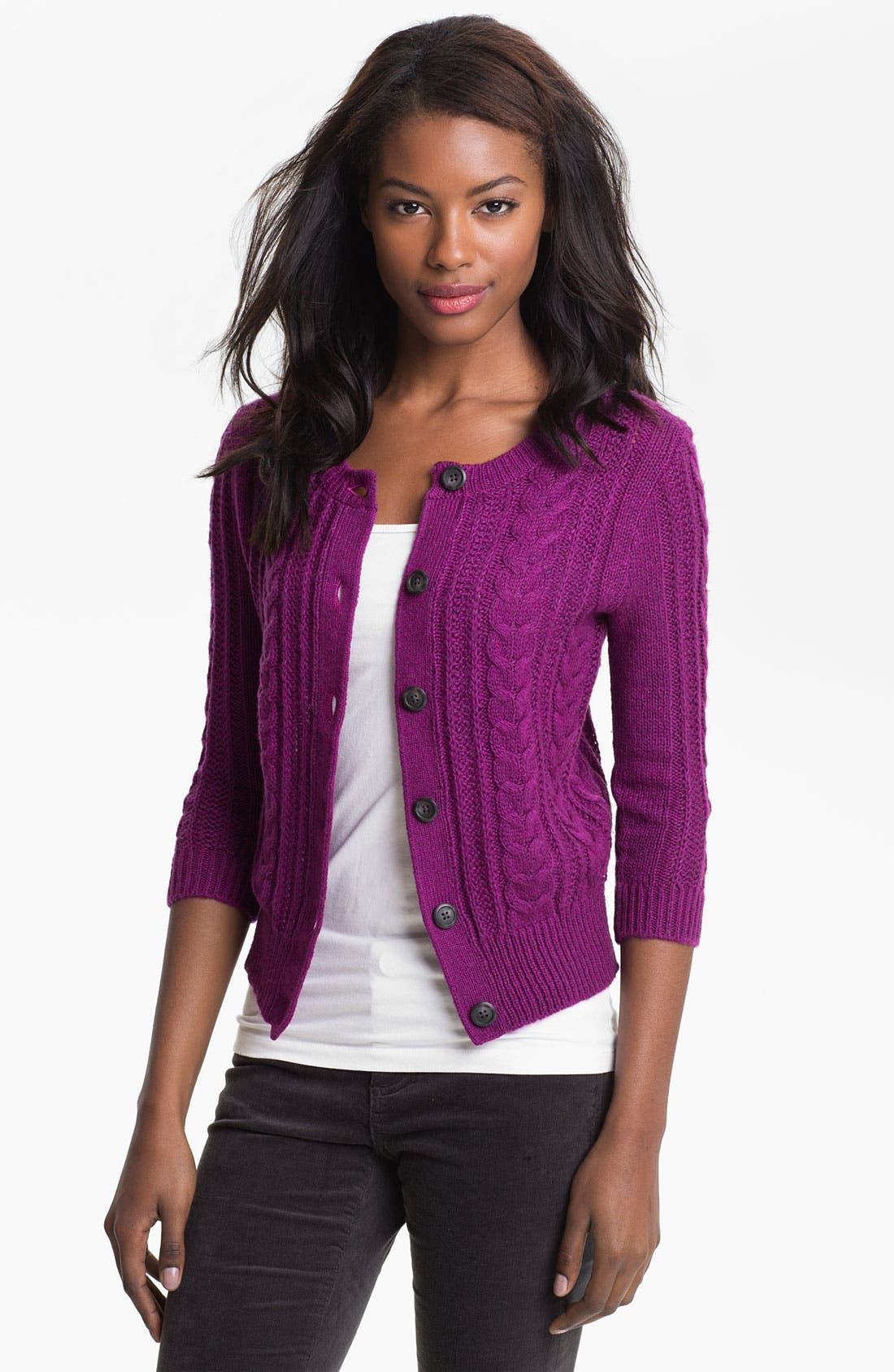 Alternate Image 1 Selected - Caslon® Cable Cardigan