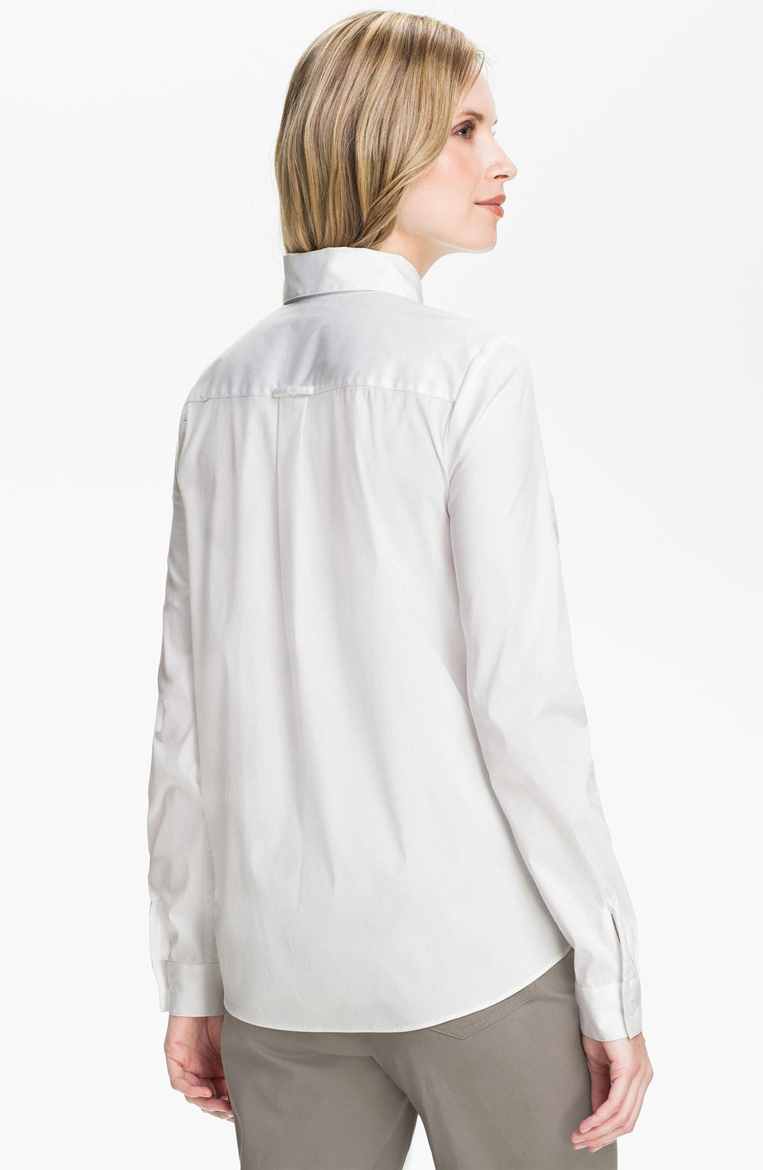Alternate Image 2  - Lafayette 148 New York Relaxed Button Front Shirt