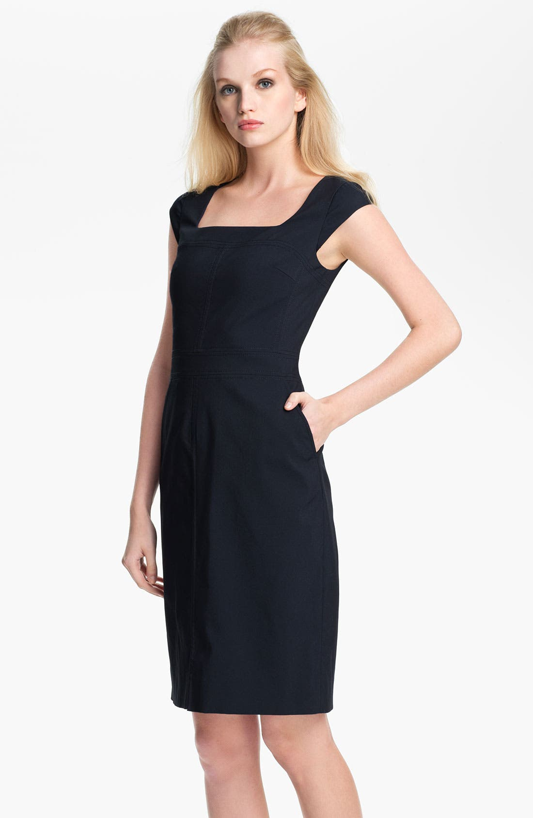 Alternate Image 1 Selected - Tory Burch 'Callie' Cotton Blend Sheath Dress