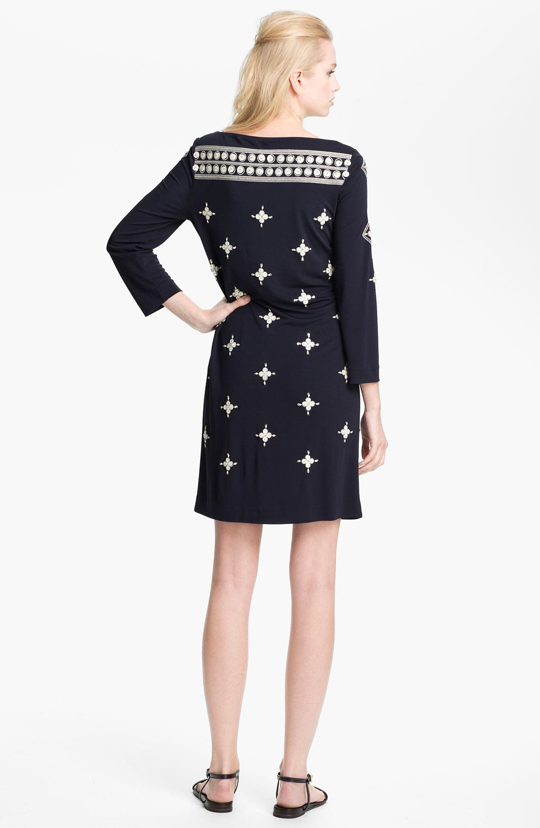 Alternate Image 2  - Tory Burch 'Carleton' Embellished Shift Dress
