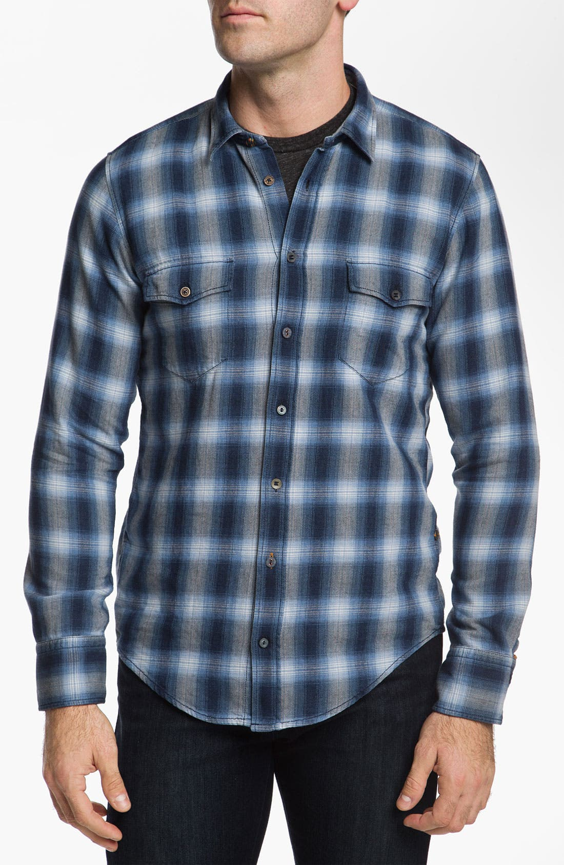 Alternate Image 1 Selected - BOSS Orange 'Eddaie' Plaid Flannel Shirt