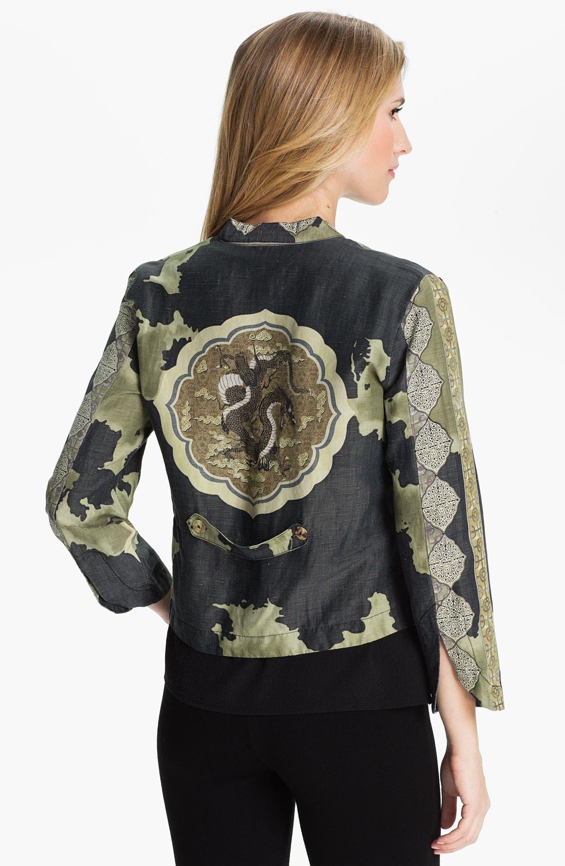 Alternate Image 2  - Citron Mandarin Collar Jacket (Petite)