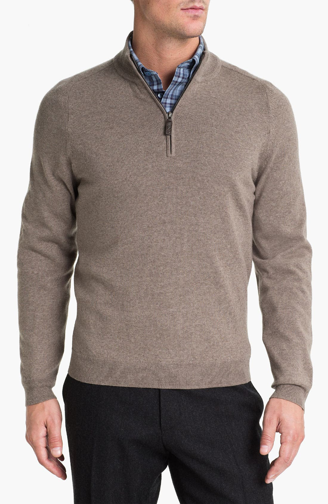 Alternate Image 1 Selected - Nordstrom Merino Wool Half Zip Sweater