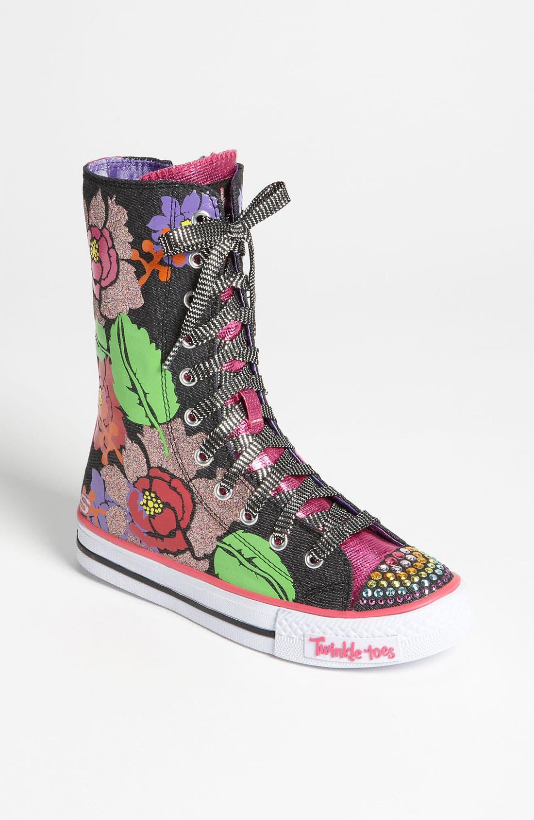 Main Image - SKECHERS 'Twinkle Toes - Shuffles Love Stories' Sneaker (Toddler & Little Kid)