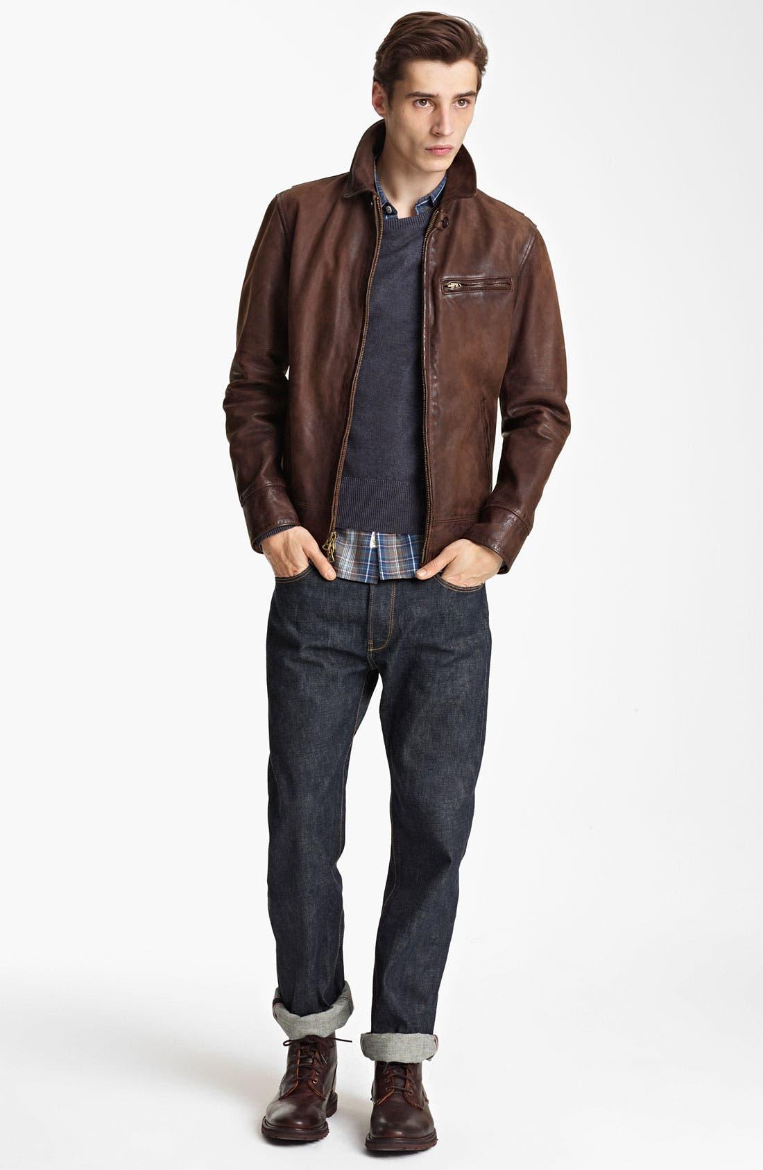 Alternate Image 4  - Todd Snyder 'Dean' Leather Jacket