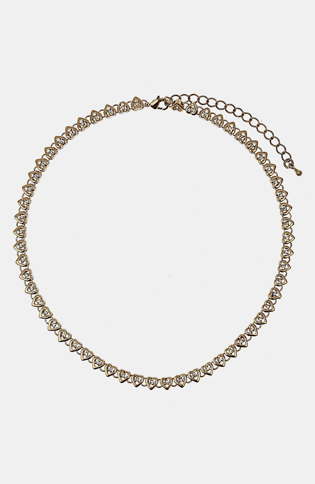 Alternate Image 1 Selected - Topshop Mini Heart Collar Necklace