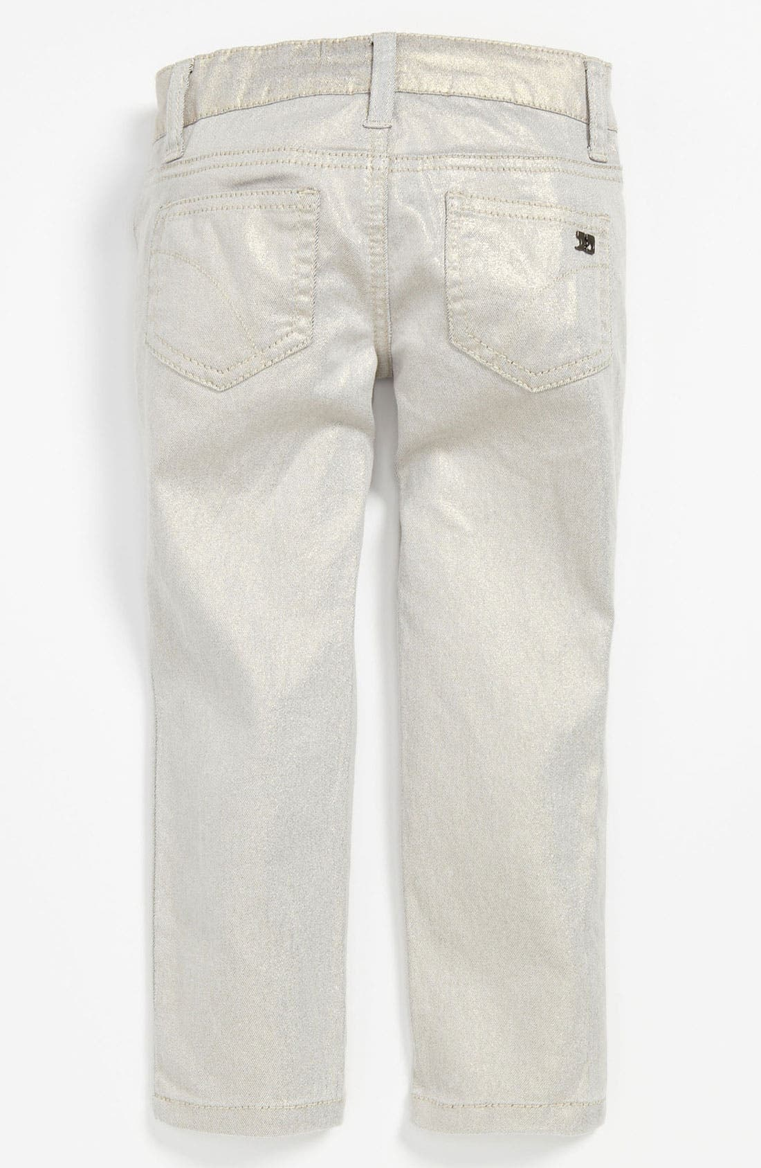 Alternate Image 1 Selected - Joe's Stretch Skinny Leg Metallic Denim Pants (Toddler)