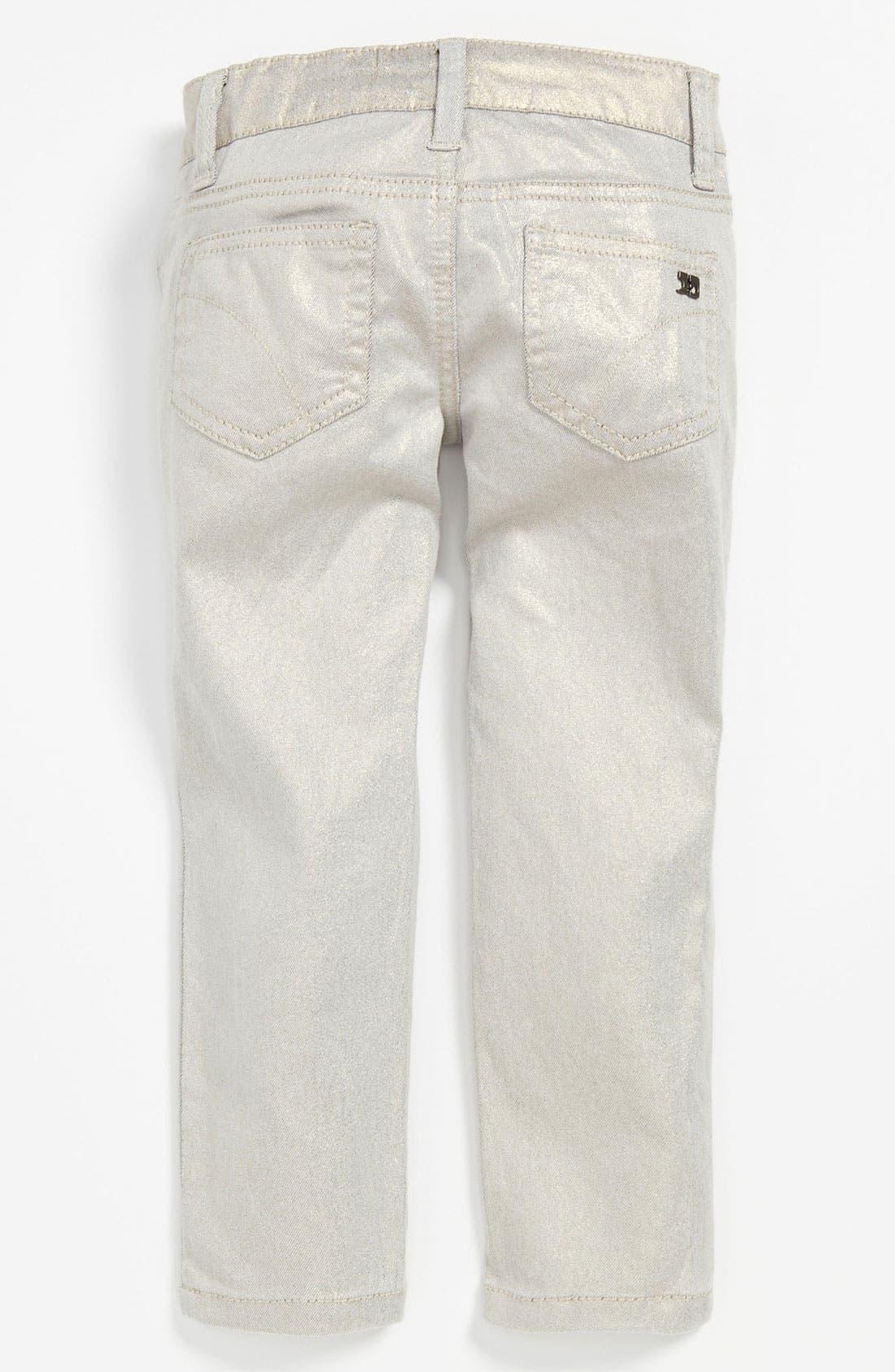Main Image - Joe's Stretch Skinny Leg Metallic Denim Pants (Toddler)