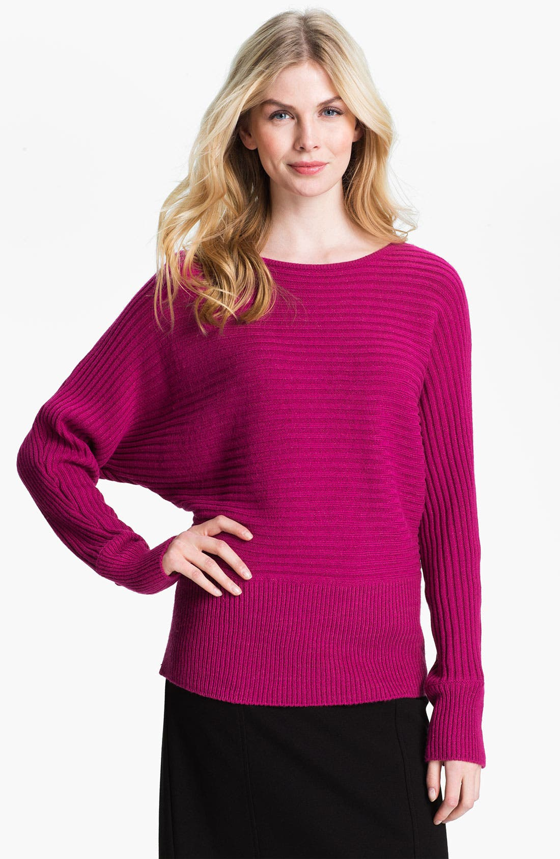 Main Image - Fever Rib Knit Dolman Sweater