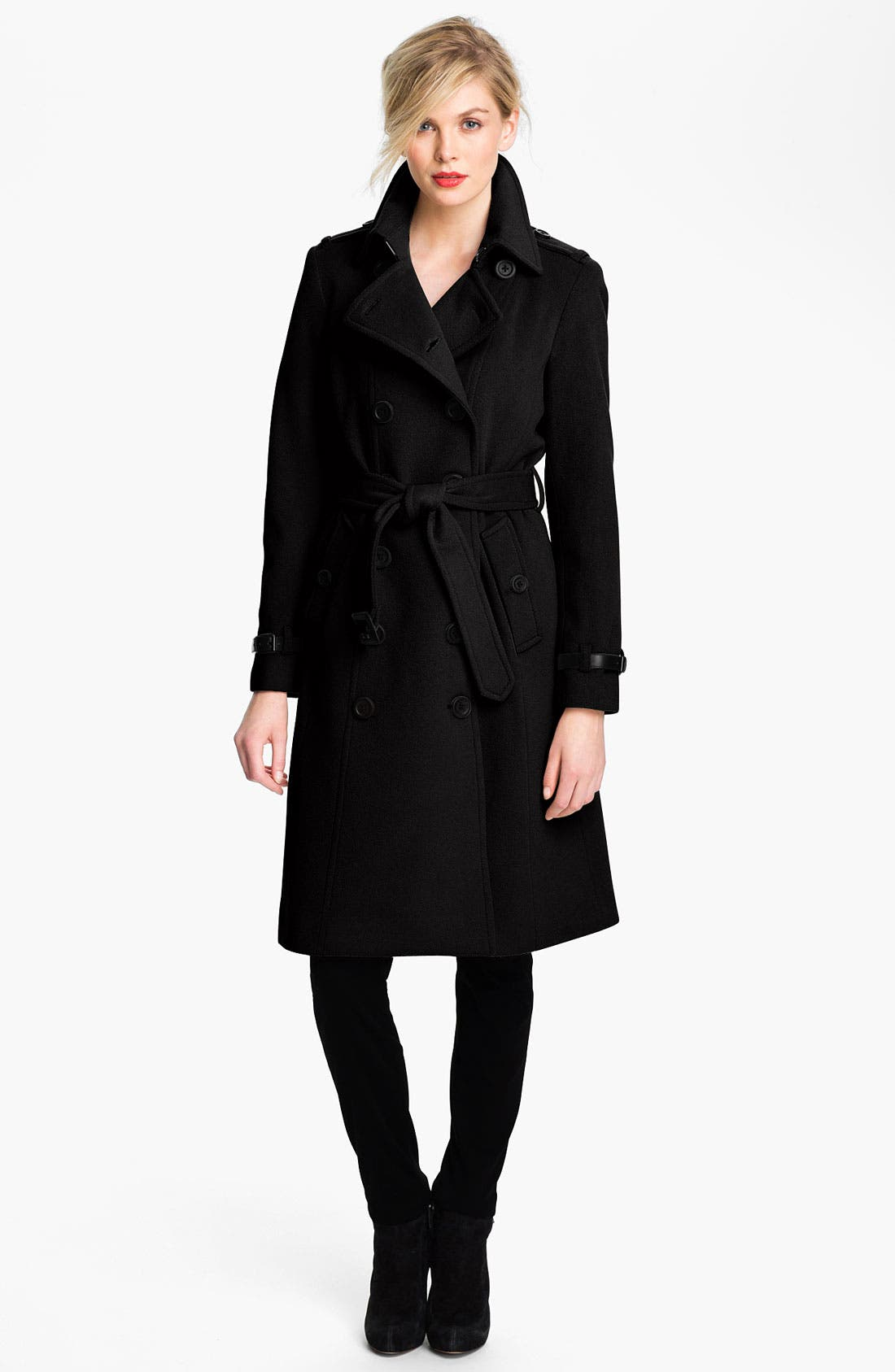 Main Image - London Fog Double Breasted Wool Blend Trench Coat (Online Exclusive)